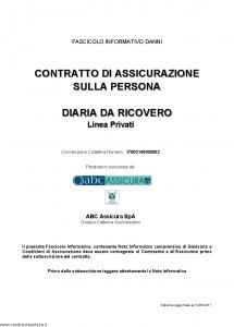 Abc - Diaria Da Ricovero Linea Privati Convenzione 17000140000002 - Modello nd Edizione 31-05-2017 [35P]