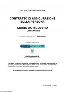 Abc - Diaria Da Ricovero Linea Privati Convenzione 17000340000002 - Modello nd Edizione 31-05-2017 [36P]