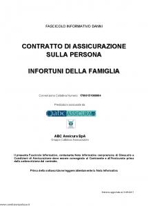 Abc - Infortuni Della Famiglia Convenzione 17000131000004 - Modello nd Edizione 31-05-2017 [20P]