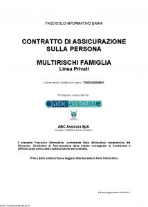 Abc - Multirischi Famiglia Linea Privati Convenzione 17000340000001 - Modello nd Edizione 31-05-2017 [46P]