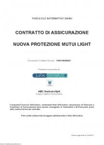 Abc - Nuova Protezione Mutui Light Convenzione 17000130000207 - Modello nd Edizione 31-05-2017 [64P]