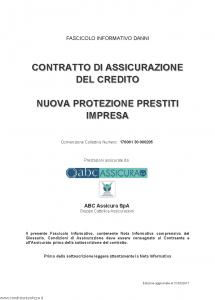 Abc - Nuova Protezione Prestiti Impresa Convenzione 17000130000205 - Modello nd Edizione 31-05-2017 [56P]