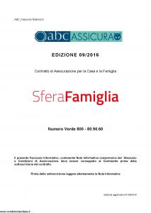 Abc - Sfera Famiglia - Modello nd Edizione 01-09-2016 [64P]