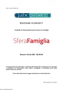 Abc - Sfera Famiglia - Modello nd Edizione 31-05-2017 [64P]