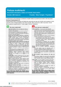 Abc - Sfera Famiglia Proprietario E Dip Aggiuntivo Danni - Modello nd Edizione 01-10-2018 [79P]