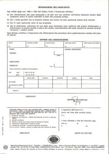 Agricoltura - Polizza Contro I Danni Da Incendio E Furto Per Veicoli A Motore - Modello D2600-01 Edizione 10-1979 [SCAN] [4P]