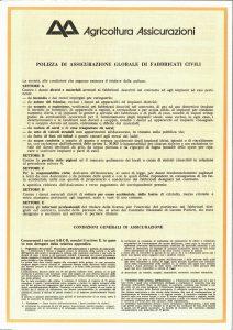 Agricoltura - Polizza Globale Fabbricati Civili - Modello 2510-01 Edizione nd [4P]
