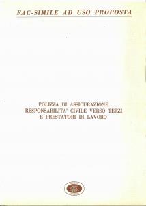 Agricoltura - Responsabilita' Civile Verso Terzi E Prestatori Di Lavoro - Modello 4700-01 Edizione 09-1981 [SCAN] [4P]