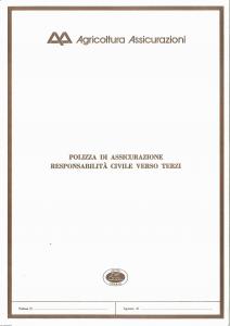 Agricoltura - Responsabilita' Civile Verso Terzi - Modello 4500-01 Edizione 10-1985 [SCAN] [4P]