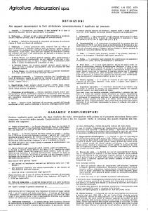Agricoltura - Rischi Civili E Piccoli Rischi Commerciali - Modello 1-a-4000 Edizione 07-1985 [SCAN] [2P]
