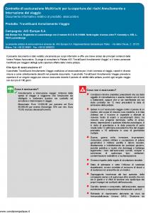 Aig Europe - Travelguard Annullamento Viaggio - Modello nd Edizione 01-01-2019 [15P]