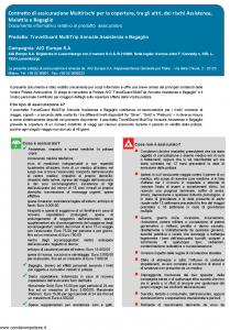 Aig Europe - Travelguard Multitrip Annuale Assistenza Bagaglio - Modello nd Edizione 01-12-2018 [23P]