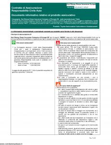 Aioi Nissay Dowa - Toyota Assicurazioni Autovetture E Autotassametri - Modello nd Edizione 01-01-2019 [41P]