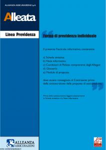 Alleanza Assicurazioni - Alleata Linea Previdenza - Modello 10303681 Edizione 03-2006 [84P]
