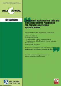 Alleanza Assicurazioni - Allecapital Investimenti - Modello 10303684 Edizione 03-2007 [40P]