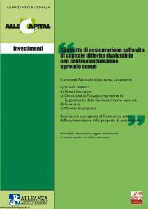 Alleanza Assicurazioni - Allecapital Investimenti - Modello 10303684 Edizione 09-2006 [36P]