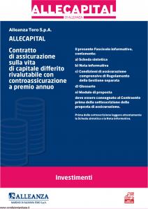 Alleanza Assicurazioni - Allecapital Investimenti - Modello 10303684 Edizione 10-2010 [40P]