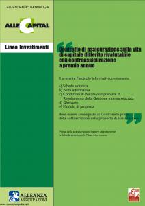 Alleanza Assicurazioni - Allecapital Linea Investimenti - Modello 10303684 Edizione 03-2006 [36P]