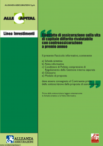 Alleanza Assicurazioni - Allecapital Linea Investimenti - Modello 10303684 Edizione 09-2005 [52P]