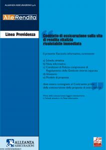 Alleanza Assicurazioni - Allerendita Linea Previdenza - Modello 10303682 Edizione 03-2006 [40P]