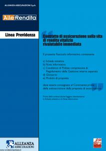 Alleanza Assicurazioni - Allerendita Linea Previdenza - Modello 10303682 Edizione 09-2005 [56P]