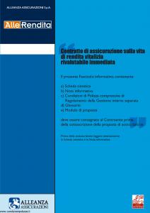 Alleanza Assicurazioni - Allerendita - Modello 10303682 Edizione 09-2006 [40P]