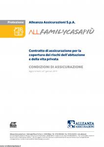 Alleanza Assicurazioni - Allfamilycasapiu' - Modello 11300374 Edizione 01-01-2019 [30P]