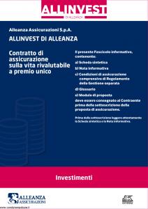 Alleanza Assicurazioni - Allinvest Investimenti - Modello 10317270 Edizione 06-2014 [38P]