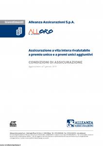 Alleanza Assicurazioni - Alloro Di Allenaza - Modello 10318213 Edizione 01-01-2019 [6P]