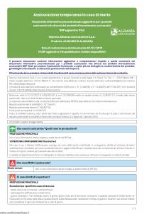 Alleanza Assicurazioni - Alsicuro Di Allenza Dip Aggiuntivo Vita - Modello nd Edizione 01-01-2019 [5P]