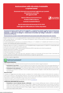 Alleanza Assicurazioni - D'Oro Di Allenaza Dip Aggiuntivo - Modello nd Edizione 01-01-2019 [7P]