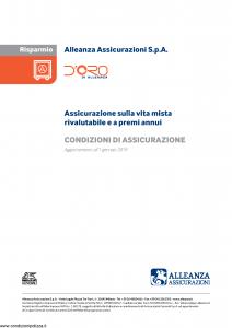 Alleanza Assicurazioni - D'Oro Di Allenza Risparmio - Modello 10318210 Edizione 01-01-2019 [14P]
