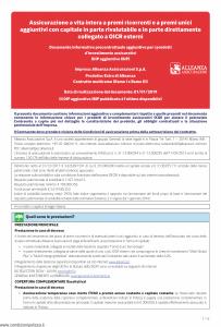 Alleanza Assicurazioni - Extra Di Alleanza Dip Aggiuntivo - Modello nd Edizione 01-01-2019 [6P]