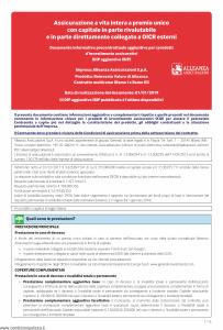 Alleanza Assicurazioni - Reinvesto Valore Di Alleanza Dip Aggiuntivo Ibip - Modello nd Edizione 01-01-2019 [6P]