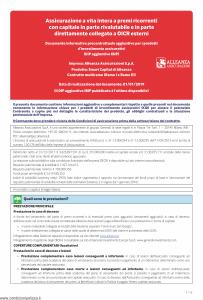 Alleanza Assicurazioni - Smart Capital Di Alleanza Dip Aggiuntivo - Modello nd Edizione 01-01-2019 [6P]