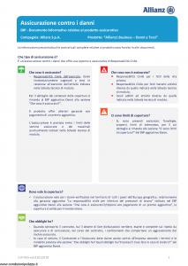 Allianz - Allianz1 Business Danni A Terzi - Modello dip-955 Edizione 01-01-2019 [29P]