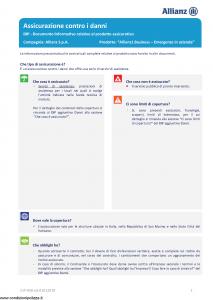 Allianz - Allianz1 Business Emergenze In Azienda - Modello dip-958 Edizione 01-01-2019 [17P]