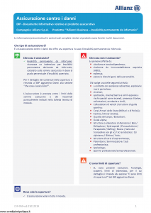 Allianz - Allianz1 Business Invalidita' Permanente Da Infortunio - Modello dip-959 Edizione 01-01-2019 [21P]