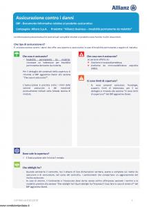 Allianz - Allianz1 Business Invalidita' Permanente Da Malattia - Modello dip-960 Edizione 01-01-2019 [15P]