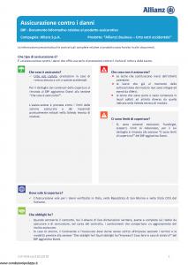 Allianz - Allianz1 Business Urto Vetri Accidentale - Modello dip-954 Edizione 01-01-2019 [15P]