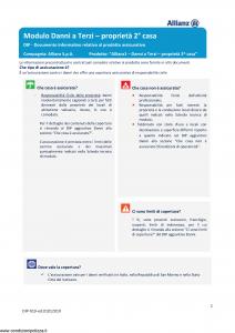 Allianz - Allianz1 Danni A Terzi Proprieta' 2 Casa - Modello dip-919 Edizione 01-01-2019 [20P]