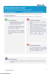 Allianz - Allianz1 Danni Ai Locali Della Casa - Modello dip-916 Edizione 01-01-2019 [32P]