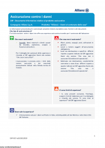 Allianz - Allianz1 Danni Al Contenuto Della Casa - Modello dip-917 Edizione 01-01-2019 [32P]