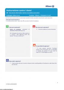 Allianz - Allianz1 Emergenze In Casa - Modello dip-921 Edizione 01-01-2019 [21P]