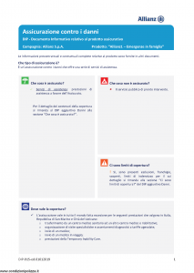 Allianz - Allianz1 Emergenze In Famiglia - Modello dip-915 Edizione 01-01-2019 [23P]