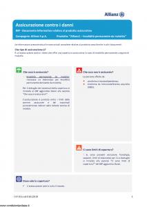 Allianz - Allianz1 Invalidita' Permanente Da Malattia - Modello dip-911 Edizione 01-01-2019 [21P]