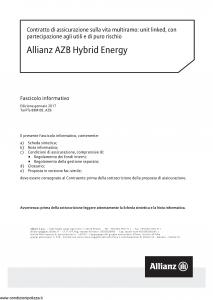 Allianz - Allianz Azb Hybrid Energy - Modello 8020 Edizione 01-2017 [64P]