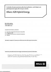 Allianz - Allianz Azb Hybrid Energy - Modello 8021 Edizione 01-2019 [40P]