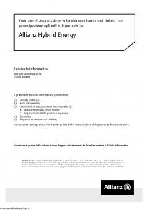 Allianz - Allianz Hybrid Energy - Modello nd Edizione 29-09-2018 [64P]