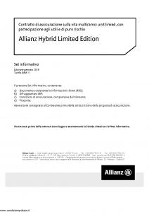 Allianz - Allianz Hybrid Limited Edition Set Informativo - Modello nd Edizione 01-2019 [48P]
